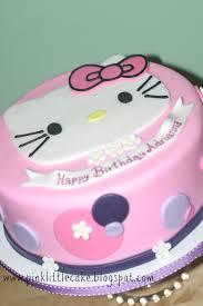 pink little cake hello kitty cake