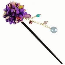 kanzashi hair pin bouquet kanzashi hairpin purple japanya