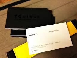 Business Cards San Francisco Equinox Business Cards Fitcity Business Card Pinterest
