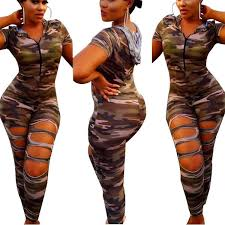 camouflage jumpsuit womens 2017 jumpsuits for sleeved camouflage hooded tops
