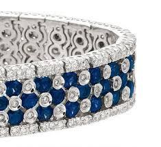 bracelet diamond sapphire images White gold blue sapphire 3 25 carat diamond tennis bracelet jpg