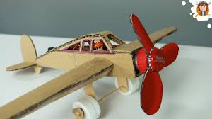 how to make a plane with dc motor cardboard plane youtube