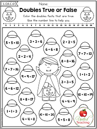 doubles addition facts worksheets 1st grade no prep math worksheets doubles addition