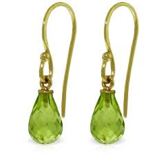 hook earrings 14k solid gold fish hook earrings with peridots