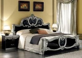 barocco black classic italian bedroom set