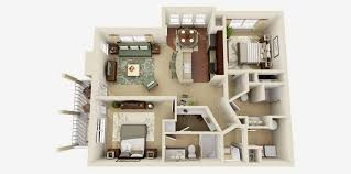 one and two bedroom floor plan house design
