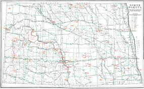 Nd Road Map Hognewscom State Pages North Dakota Nddot Divisions And Districts