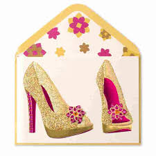 gold glam shoes blank cards papyrus