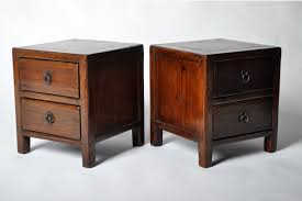 chinese square corner stool with two drawers furniture