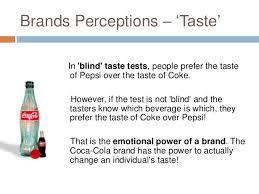 Pepsi Blind Taste Test The Power Of Brands