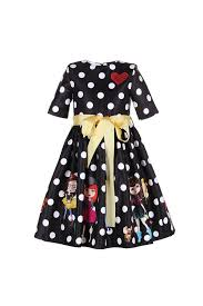poka dots tulle dress with little girls diamond red heart and