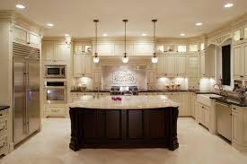 Lights In Kitchen by Kitchen Astonishing U Shape Black And White Kitchen Decoration