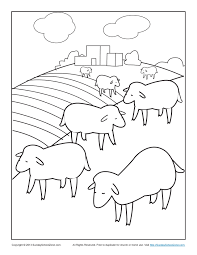 bible coloring pages for kids the lost sheep