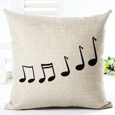music note home decor 18 u0027 u0027 cotton linen music notes throw pillow case sofa waist cover