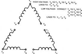 3 phase motor wiring diagram 9 leads wiring diagram and