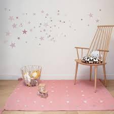 tapis etoiles en coton rectangle chambre fille par for