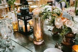 mercury glass and lanterns reception table decor elizabeth anne