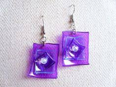 plastic bottle earrings white upcycled earrings made of recycled plastic bottle with