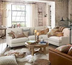 pottery barn livingroom seabury upholstered 3 sectional with wedge pottery barn