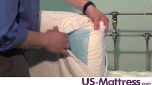 Pacific Coast Feather Bed Core Sleep Sensacool Gel Pillow By Pacific Coast Feather Youtube