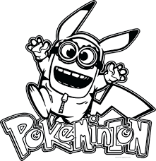 minion coloring pokemon images pages book free printable