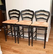ballard design chairs chair design and chair ideas three ballard design antiqued black painted wood and rush seat bar chairs
