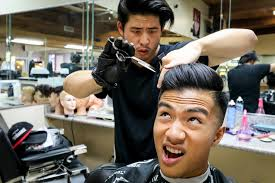 fungbros haircut how to defeat stiff asian hair youtube