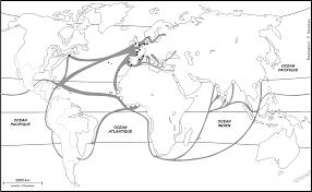 carte monde noir et blanc empires coloniaux et courants d u0027échanges l u0027atelier d u0027hg sempai