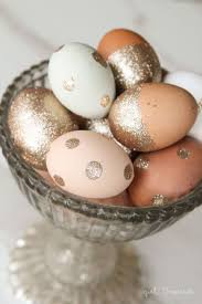 glitter easter eggs 60 easy and creative easter egg decorating ideas egg bowls and