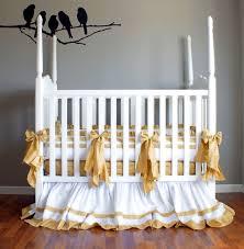 Silk Crib Bedding Set Designing A Gender Neutral Nursery