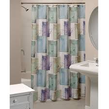 Purple Bathroom Curtains Peace Uplifting Shower Curtain In Blue Green Purple Lavender