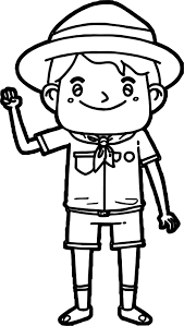 scout boy coloring page wecoloringpage