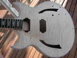 guitar kit koa full hollow body guitar languedoc guitar