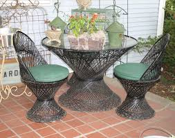 patio pergola awesome rattan chair in black with green cushion