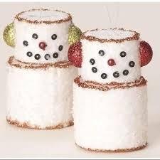 buy 6 sweet memories glittery marshmallow snowman glass