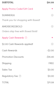 new boxed 20 promo codes stack with amex offer last day