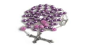 buy rosary purple catholic rosary with lourdes medal buy one get one free