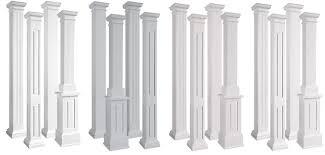 endura stone square non tapered fiberglass columns exterior