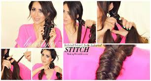 cool braids hairstyles stitch fishtail braid tutorial video