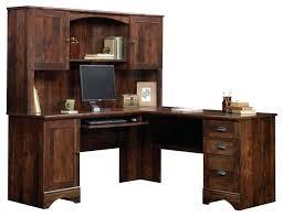 Curved L Shaped Desk Cherry Corner Computer Desk Furniture Modern Executive Desk L