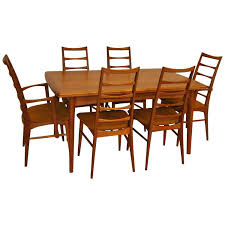 Dining Room Table And Chair Sets by Danish Modern Teak Refractory Dining Table And Six