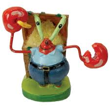 krabs sponge bob aquarium ornament 1 75 in