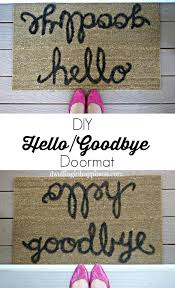 Bonjour Doormat 15 Diy Doormats And Welcome Mats Little Red Window