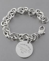 bracelet charms tiffany images Tiffany co circle pendant bracelet tradesy jpg