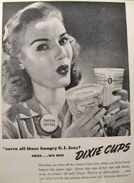 1945 dixie cup ad canteen hostess dixie vintage