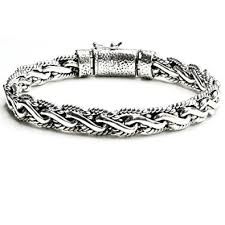 antique sterling silver bracelet images Kham 8 6 mm sterling silver braided bali style cable jpg