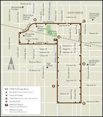 La Metro Bus Map by Dash Northridge Ladot Transit Services