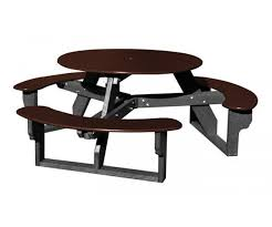 recycled plastic picnic tables round recycled plastic picnic table occ outdoors