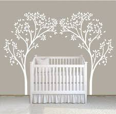 Vinyl Tree Wall Decals For Nursery by Two Tree Nursery Wall Decal Stickers Auall226 64 00 Wall