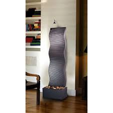 Water Fountain Home Decor Terrific Indoor Floor Water Fountains 60 Inches Design Feat Black